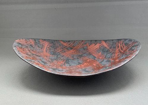 オーバル深皿 (赤刷毛) 【10枚入り】