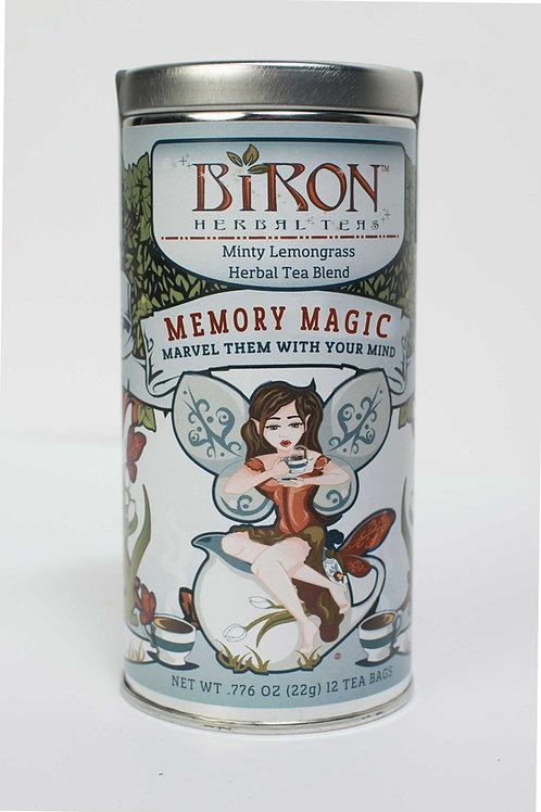 Memory Magic Herbal Tea - 12 Pyramid Tea Bags - Case of 6