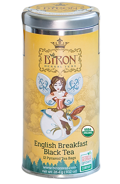 English Breakfast Organic Black Tea - 12 Biodegradable Pyramid Sachets