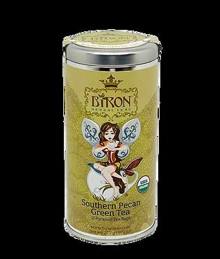 Southern Pecan Organic Green Tea - 12 Biodegradable Pyramid Sachets