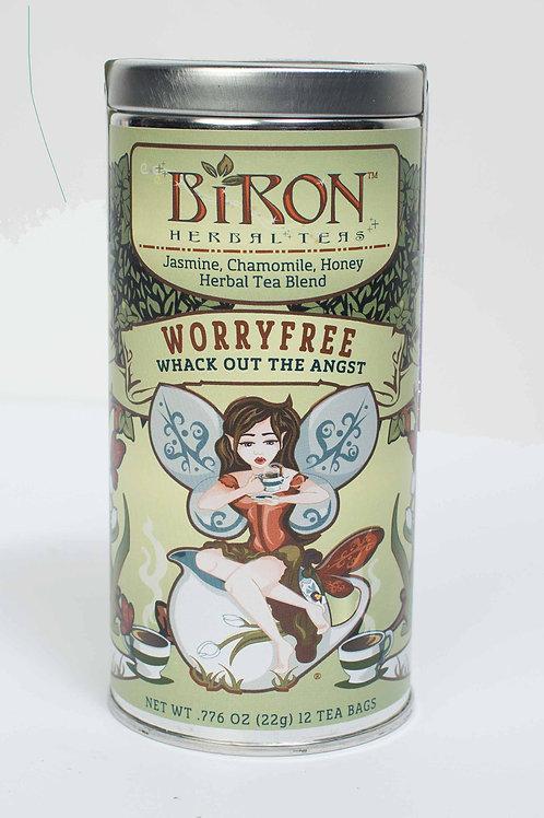 Worryfree Herbal Tea - 12 Pyramid Tea Bags - Case of 6