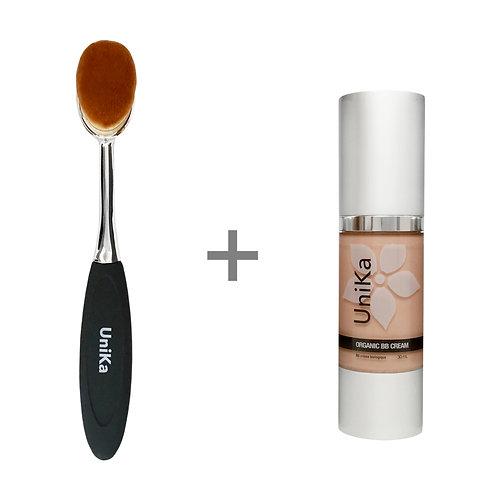 COMBO | Organic BB Cream + Buffer Brush