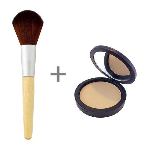 COMBO | Organic Pressed Foundation + Brush