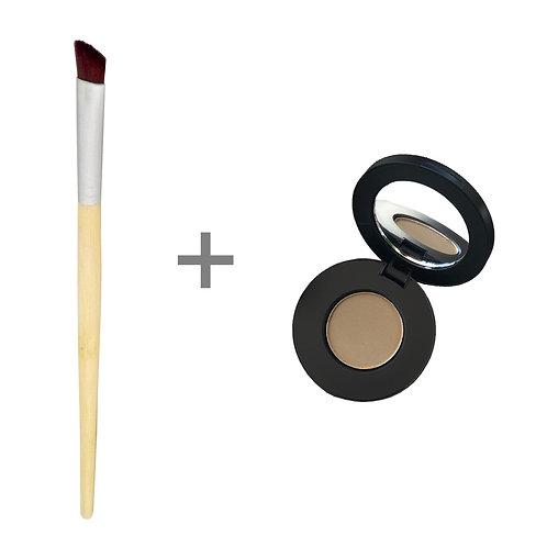 COMBO | Organic Brow Powder + Angled Brush