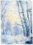 """""""The mid of March - winter again..."""" 18x13 cm"""