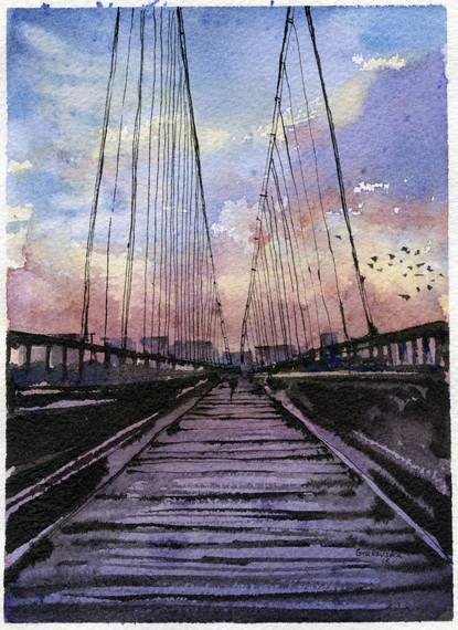 The bridge to... 18x13 cm