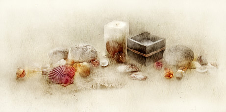 Stillife with fragrance candles