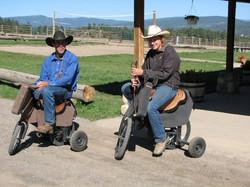 Real cowboys ride ...