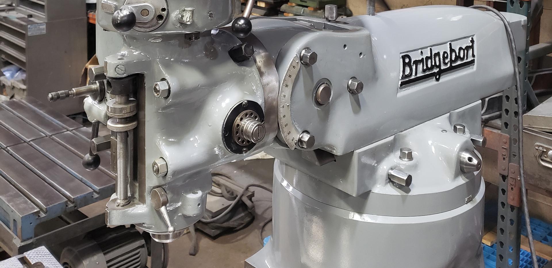 Closeup of machine head