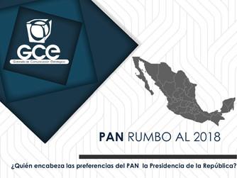 """Encuesta de Gabinete de Comunicación Estratégica: """"PAN rumbo al 2018""""."""