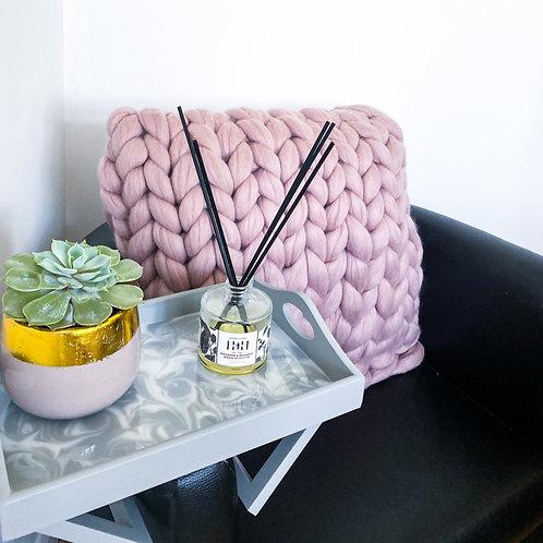Merino Chunky Knitted Square Cushion