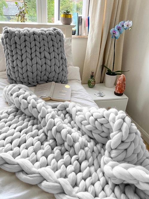 Merino Chunky Knitted Blanket