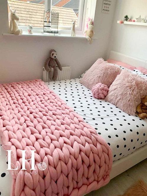 Merino Chunky Knitted Bed Runner