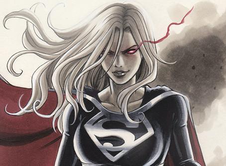 (Not My) commission: Dark Supergirl vs Wonder Woman