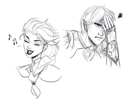Commission: Onyx & Elsa