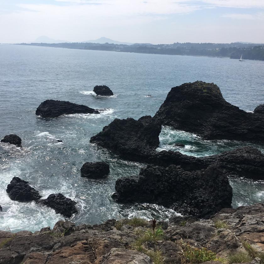 Volcanic rocks in Jeju Island