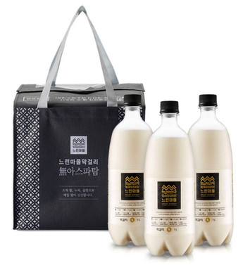 Neurin Maeul Makgeolli - Also called Slow city and is a popular aspartame free makgeolli