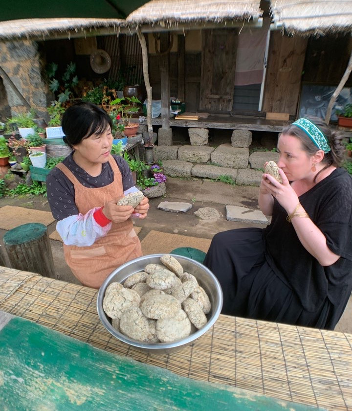 Nuruk made from millet is used in traditional makgeolli making recipes in Jeju Island