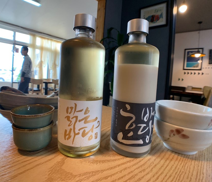 Jeju Badang is traditional rice makgeolli made on Jeju Island