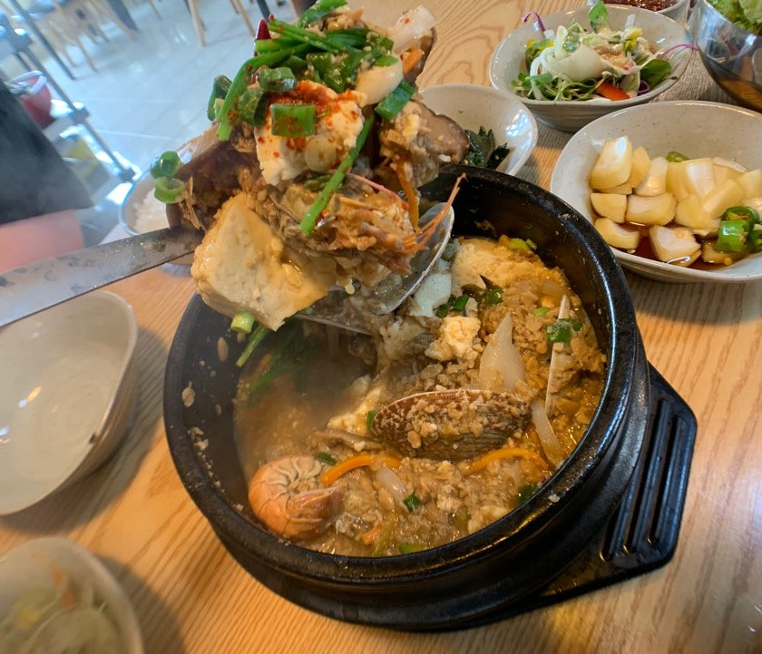 Cheonggukjang is made on site and paired with handmade makgeolli in jeju
