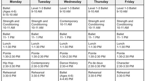 New Summer Schedule 2021