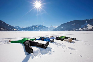fun on the frozen lake