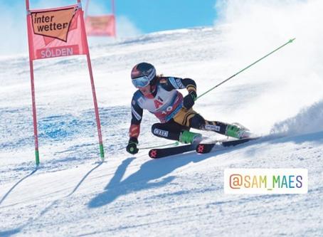 """Sam Maes skiet knappe wereldbekerstart als 18de in reuzenslalom: """"Dit betekent een pak voor mij"""""""