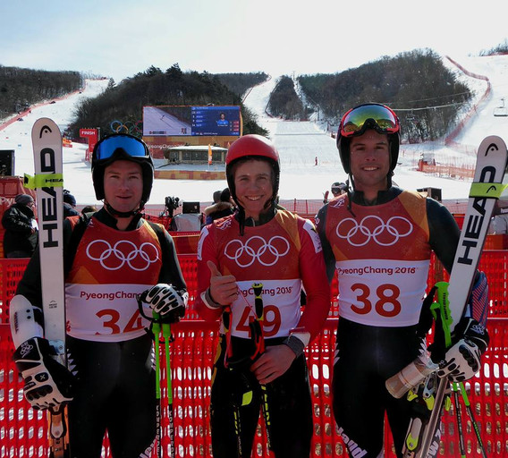 Willis, Sam and Tom at Olympics in Pyeongchang.