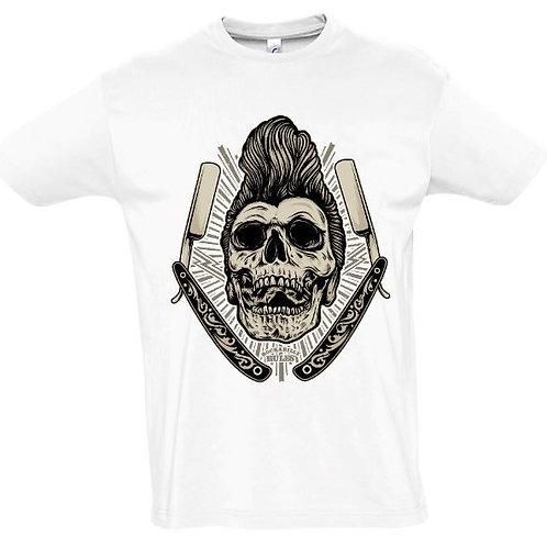 """Herren T-Shirt Weiß Aufdruck """"ROCKABILLY RULES"""""""