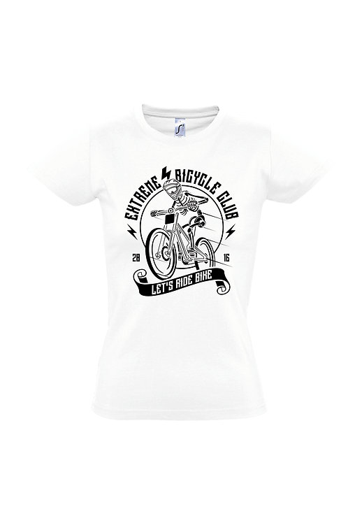 LET´s RIDE BIKE Damen T-Shirt Weiß