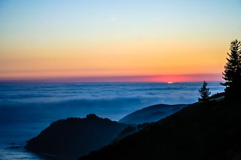 Sunset at Post Ranch