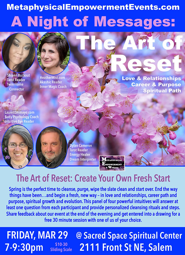 Night of Messages on Art of Reset March