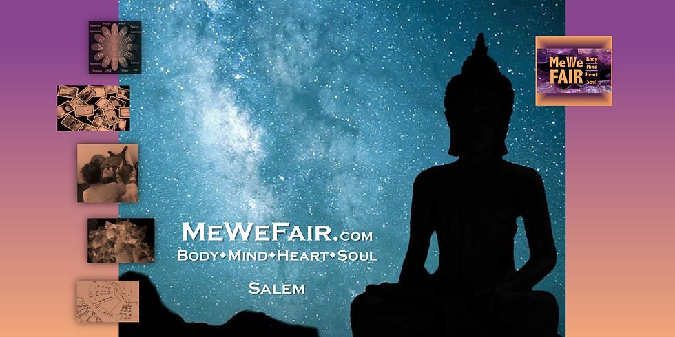 MeWe Metaphysical-Wellness Fair, 50 Booths, 40 Talks