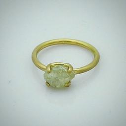 Ring Gelbgold Rohdiamant