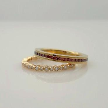 Ring Gelbgold Rotgold Brillanten