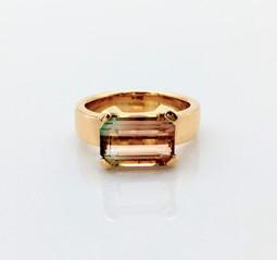 Gold Ring mit Turmaline
