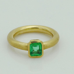 Ring Gold Smaragd