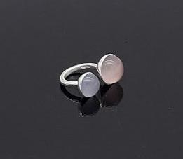 Ring Silber Rosenquarz Calzedon