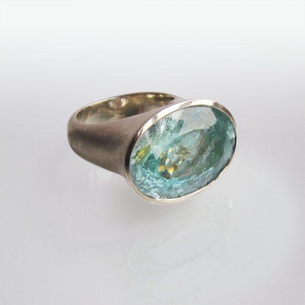 Silberring Aquamarin