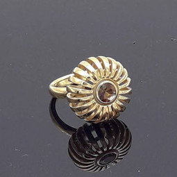 Ring Gelbgold Andalusit