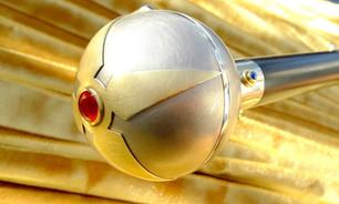Spazierstock Kompass Sonnenuhr Gold