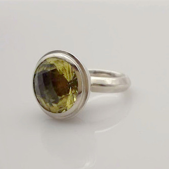 Ring Silber Lemonquarz