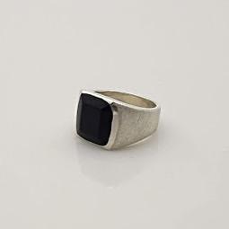 Ring Silber Ebenholz