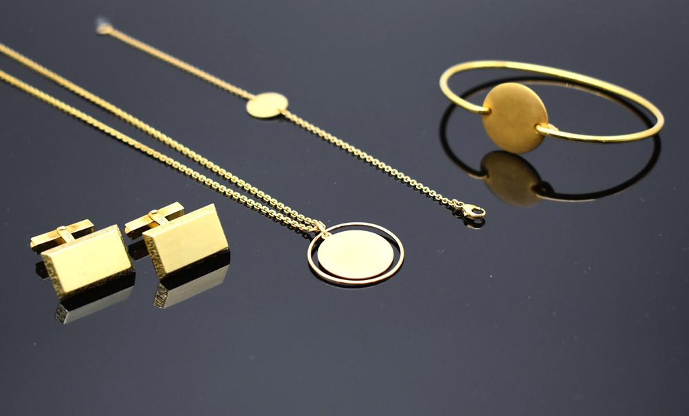 Wunderschöner Schmuck zum Gravieren JF Das Atelier Gold Silber Platin Geschenk