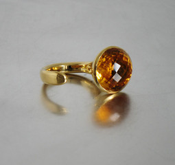 Ring Gelbgold Citrin