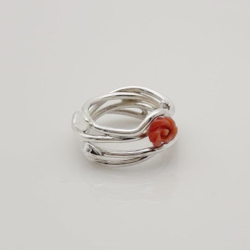 Ring Silber Koralle