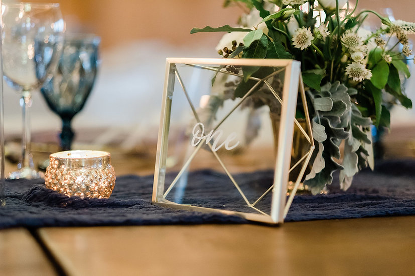 Geometric + Glass Table Numbers