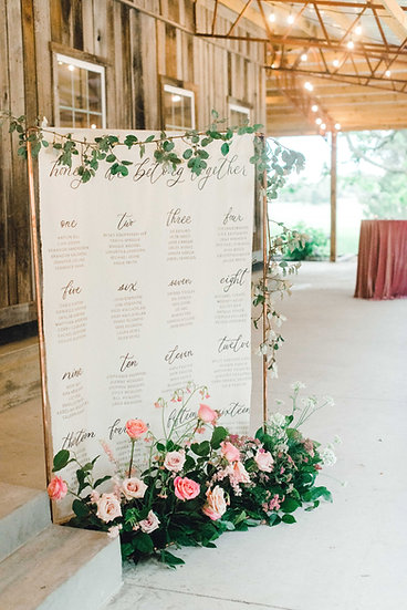 Seating Chart Banner