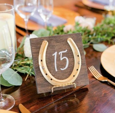 Horseshoe Table Numbers
