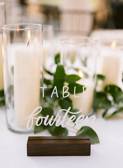 Glass & Wood Table Numbers